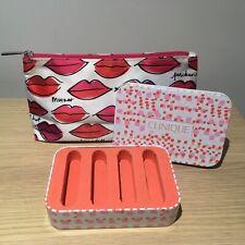 Clinique Make Up Bag And Lipstick Storage Tin