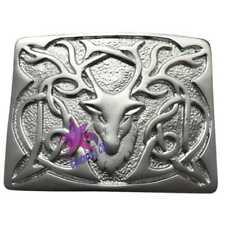 Men�€™s Highland Kilt Belt Buckle Stag Silver/Stag Head Buckle For Scottish Kilts