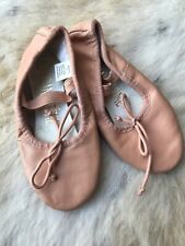 Dance Time Pink Leather Upper  Ballet Slippers Sz 11 Shoes 4303473