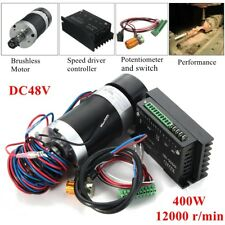 CNC 400W 12000rpm ER11 Brushless Spindle Motor Speed Driver Controller Engraving