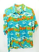 PINEAPPLE MOON brand mens short sleeve shirt size large Hawaii style         XB3
