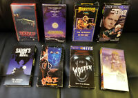 8 Tape VHS Lot HORROR Collection  House II Wolfen Gate II Monsters FREE SHIP!!