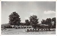 Georgia Ga Real Photo RPPC Postcard c'50 DALTON White House Court Motel Roadside