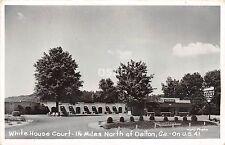 Georgia Ga Real Photo RPPC Postcard c'50 DALTON White House Court Motel Roadside