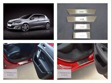 Door Sill Scuff Plate Guards Sills For Peugeot 308 2014-17 Threshold Protectors