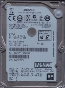 HTS547564A9E384  MLC: DA4124  p/n: 0J11562 Hitachi  640Gb SATA B24-1