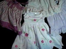 4 Baby Toddler Girls Vintage Frilly Dresses (2T, 9, 5) Blueberi Boulevard plus