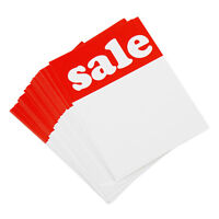 """120 Red & White Sale Price Signs Cards Shop Retail 4"""" x 3"""" 102mm x 76mm Notes"""