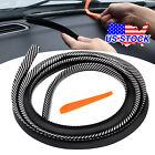 1.6M Rubber Carbon Fiber Car Dashboard Gap Filling Sealing Strip Accessories Top