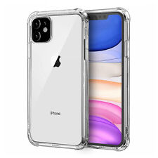 iPhone 11 Pro Max Transparent Clear Hard Back Case Silicone Bumper Phone Cover