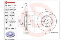 2x BREMBO Discos de Freno Traseros Ventilación interna 257mm 09.5843.11