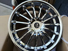"""20"""" C2 Square C15 Chrome wheels&Tires Fit 5X4.5 40 offset vehicles and more"""