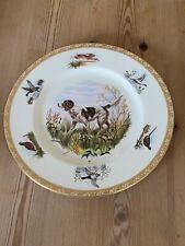 More details for antique english setter dog plate wedgwood marguerite kirmse hand painted