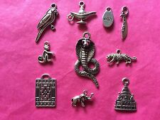 Tibetan Silver Aladdin Themed Mixed Charms 10 per pack