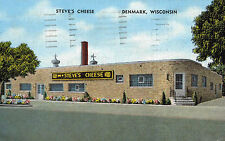 Denmark,Wisconsin,Steve's Cheese,Advertising,Brown County,Linen,Used,1950