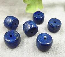 6pcs chunky-14mmX10mm Lapis Lazuli gemstone barrel beads