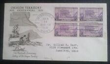 First day of issue, 1936 Oregon Territory Centennial, block 4, Scott #783