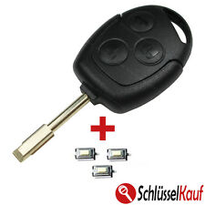 FORD Autoschlüssel Gehäuse Tibbe Rohling FOCUS MONDEO FIESTA KA + 3x Mikrotaster