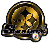 Pittsburgh Steelers Shining Logo Type Magnet: Steelers NFL Football MAGNET