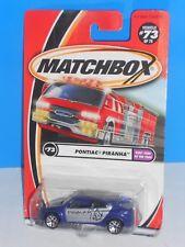 Matchbox 2002 Kids Cars Of The Year Series #73 Pontiac Piranha Blue & Silver