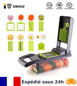 Mandoline Coupe Légume Fruit Trancheuse Multifonction Râpe Eplucheur Cuisine