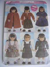"""Craft Sewing Pattern New 18"""" Doll School Outfit Butterick 5110 Cape Knit Sweater"""
