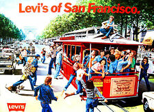 Vintage Levi's of San Francisco The French Champs-Élysées Original Poster