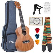 More details for horse concert ukulele mahogany 23 inch ukelele for beginer full uke kit