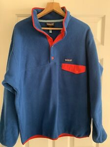 Blue and Red Patagonia Fleece Size Large