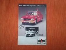 """PUBBLICITA' ORIGINALE ADVERTISING MODELLINO """"PEUGEOT 504 TOUR"""" POLISTIL del 1977"""