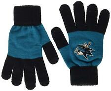 San Jose Sharks Stretch Knit Gloves with Texting Tips NHL