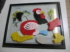 15 pc Vintage Plastic CHICKEN PUZZLE easy OLD SCHOOL child guidance toy