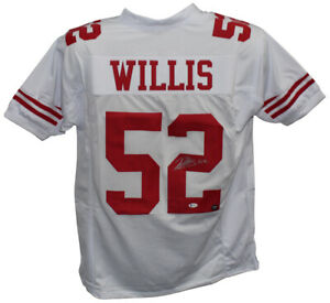 Patrick Willis Autographed/Signed Pro Style White XL Jersey BAS 32567