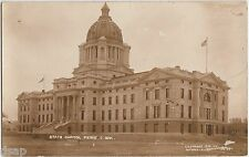 pre1918 Pierre South Dakota Sd Rppc Postcard State Capitol Building