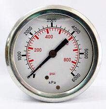 Pressure gauge 6000kpa / 870 psi 63mm Gauge rear entry NPT