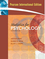Statistics for Psychology 5th Edition - ISBN: 0-13-236502-2