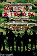 Army Party Invites - Personalised Army Photo Party Invitations x10 - 6 Designs!