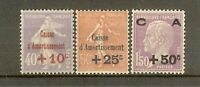 "FRANCE STAMP TIMBRE N° 249/51 ""CAISSE AMORTISSEMENT 2eme SERIE 1928"" NEUF xx SUP"