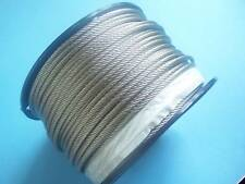 304 Stainless Steel Wire Rope Cable, 3/16, 7x19, 1000 ft Reel
