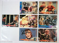 Lot of 7 Ethan Phillips Autographed Trading Cards Star Trek Voyager Neelix