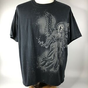 Fuel Band Music Shirt Sz XL Black Gray Angels and Devils Logo Graphic Tee