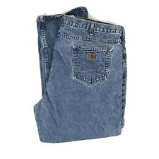 Carhartt Men's Relaxed Fit Blue Denim Work Jeans 48x30 Style B17DST