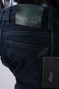 Brand new Brioni Jeans,blue,Size 34,Retail $649,embroidery Brioni logo+leather