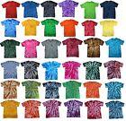 Tie Dye T-Shirts Multi-Color Adult XL 100% Cotton Colortone-Gildan