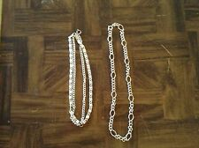 Two silver fashion jewelry necklaces