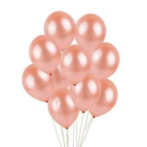 10 PC Rose Gold Balloons 11 inch Latex bouquet for wedding, birthday party.