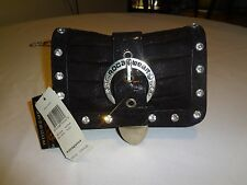 Roca Wear Purse Black with Studs and Chain Strap