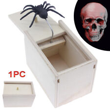 Scare Box Spider Hidden in Case Prank-Wooden Scarebox Joke Trick Play Funny Toy