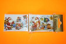 60 ÉTIQUETTES CADEAUX NOEL ( 10 Paquets de 6 Étiquettes différents ) 5 x 7 cm