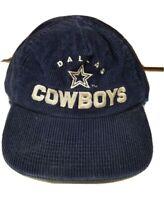 Vintage NFL DALLAS COWBOYS Corduroy Dark Blue Snapback Hat Cap Adjustable